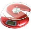 Digital Kitchen Scale 1-6000 gram Red